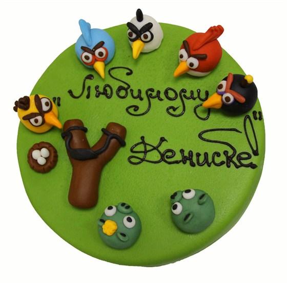 """Ресторан Bontart - фотография 24 - Торт """"Angry Birds"""""""