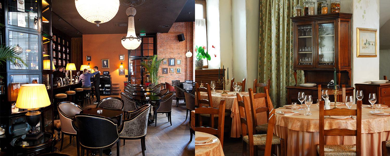 «Мандарин» задумывался как лобби-бар несуществующей гостиницы, а Osteria Montiroli как гостиная в итальянском доме. Тоже несуществующем