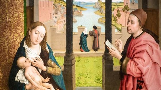 Рогир ван дер Вейден. Святой Лука, рисующий Мадонну