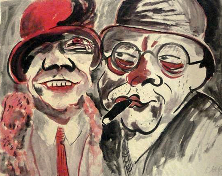 Ганс Христоф. «Пара», 1924 — найдена в тайнике Корнелиуса Гурлитта