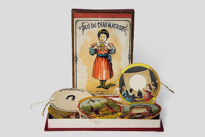 Набор тауматропов. Франция, около 1910 года. Коллекция Федора Михайлова
