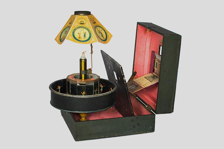 Праксиноскоп-театр. Англия, 1880-е годы. Коллекция Федора Михайлова