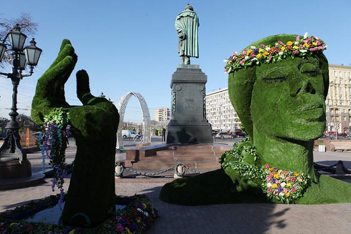 Зеленая голова на Пушкинской площади — 13%