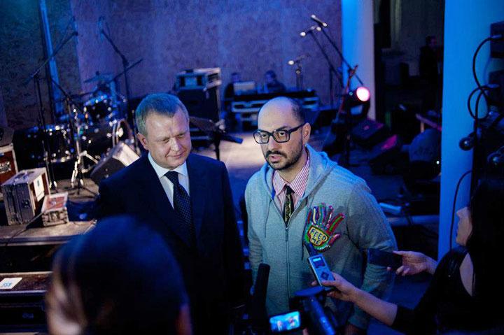 Сергей Капков с Кириллом Серебренниковым