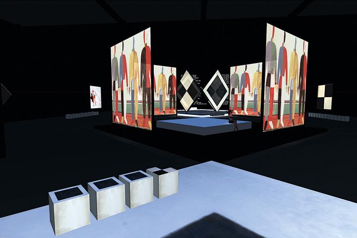 На выставке «Золотой век русского авангарда» произведения художников демонстрируются на 18 экранах — но для мультимедийных выставок это не предел