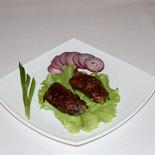 """Ресторан Алтаргана - фотография 4 - Хугабша или Печень в """"рубашке""""  (баранья печень)"""