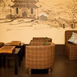 Ресторан Чайная братьев Кипятковых - фотография 5 - Художественная роспись красками по стене молодой художницы Ионовой Светланы