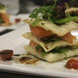 Ресторан Calcio - фотография 1 - мильфей с лососем и маскорпоне