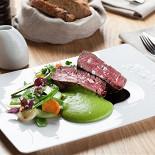 Ресторан Wine Religion - фотография 5 - Филе миньон с зеленым картофелем и соусом порто