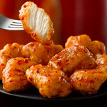 Ресторан Wendy's - фотография 6 - Чикен Страйпсы  Сочное куриное филе, приготовленное во фритюре с кисло-сладким азиатским соусом.