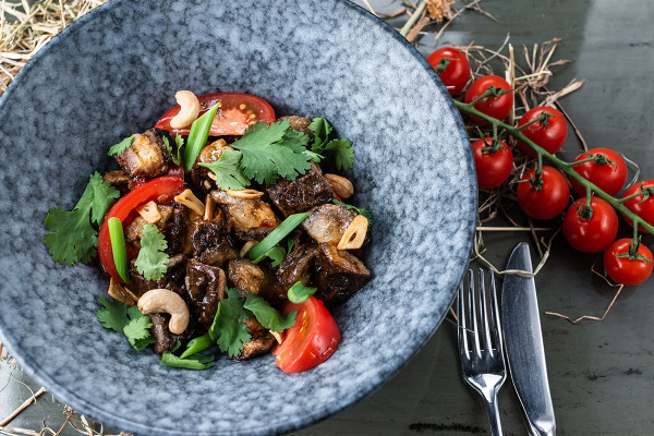 салат с баклажаном и помидорами (520 р.)