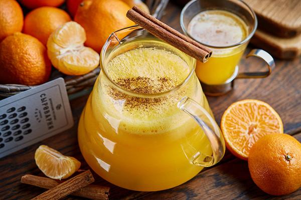 мандариновый чай с добавлением корицы (500 р.)