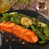 Ресторан The Waiters - фотография 4 - Лосось на гриле с кабачками, шпинатом и кедровыми орешками