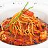 Ресторан Мумий Тролль Music Bar - фотография 10 - Спагетти с камчатским крабом в томатном соусе