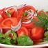 Ресторан Плотников  - фотография 22 - Салат из узбекских помидоров с ялтинским луком и зеленью