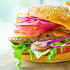 Ресторан Кекс in the City - фотография 9 - БУРГЕР с говяжьей котлетой и сыром чеддер  BURGER with beaf cutlet and cheddar cheese