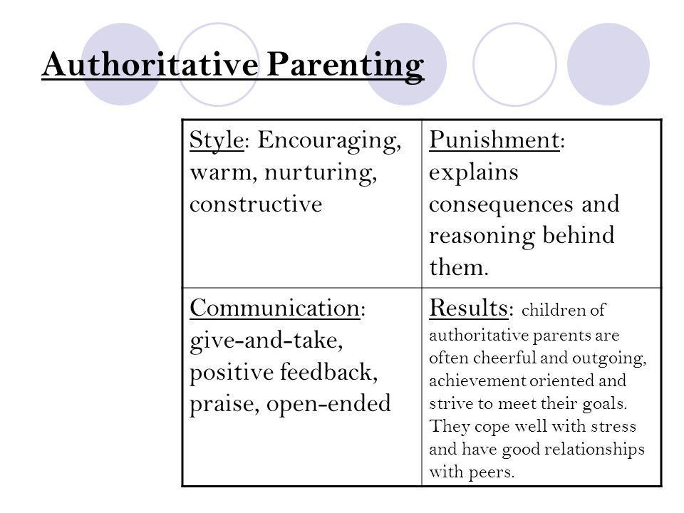 Authoritative Parenting - Health Guidance