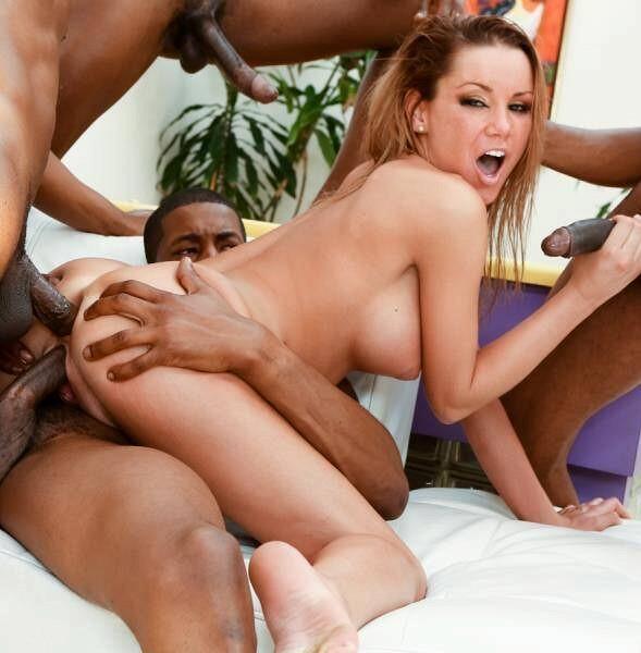 Latina tranny sucks a black cock