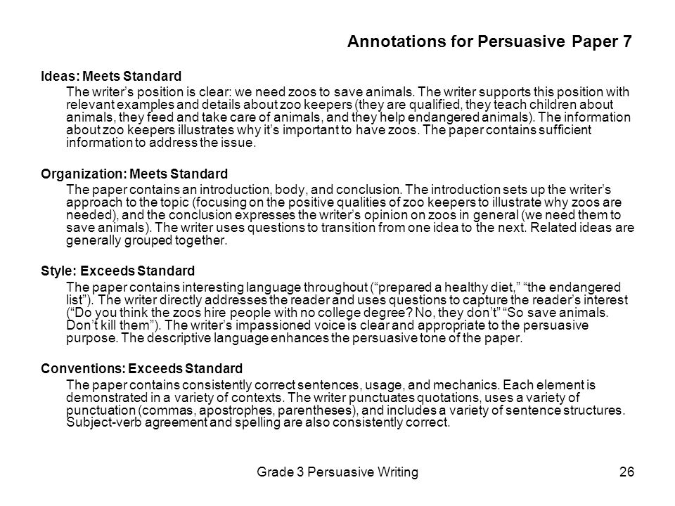 grade 3 essay examples