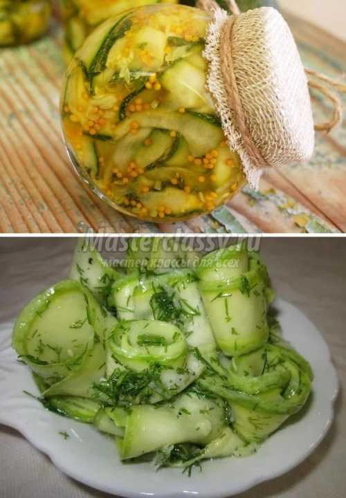 Кабачок маринованный рецепты быстро и вкусно