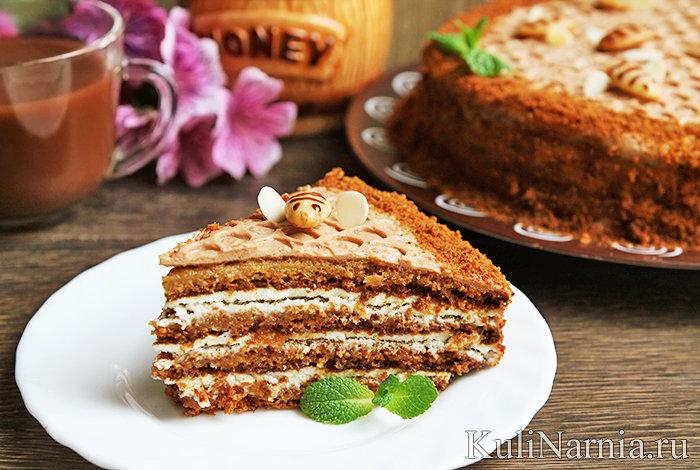 Медовый торт рецепт с пошаговым фото классический