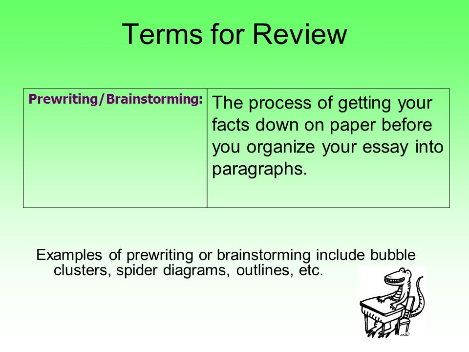 Write my essay writing brainstorming