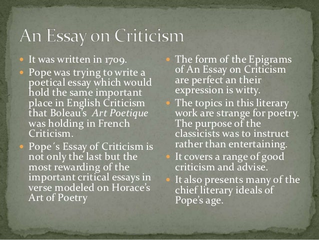 epigrams from an essay on criticism