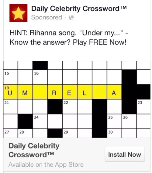Dating celebrities crossword