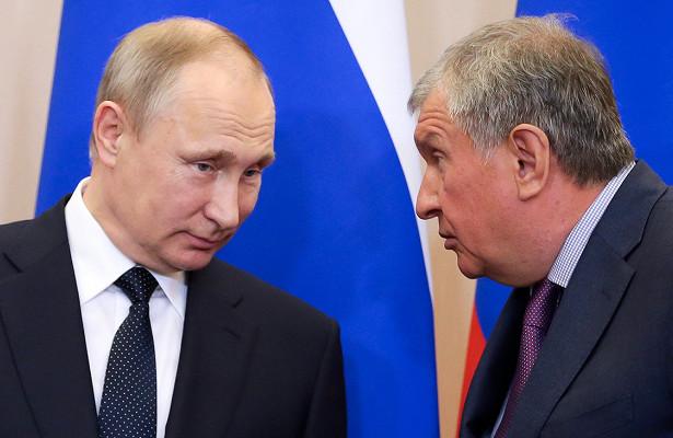 Путин задал вопрос Сечину озарплатах в«Роснефти»