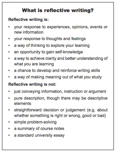Write my critical reflection essay