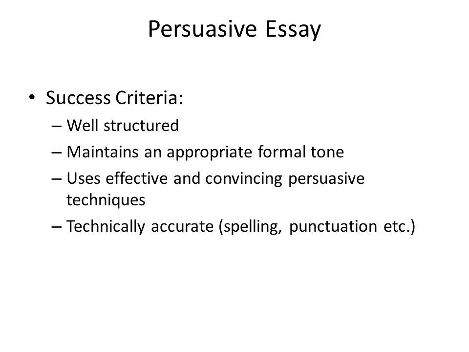 Steps to writing a personal essay
