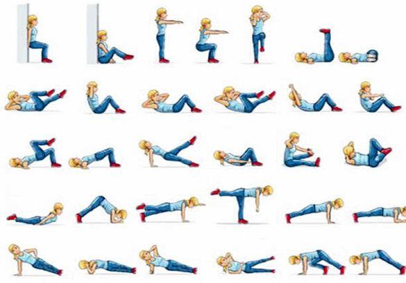 Выполняем упражнения фитнеса для похудения