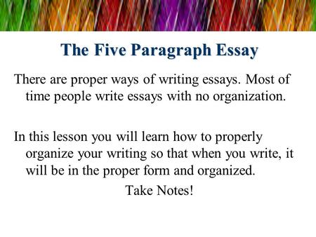 Write my easy 5 paragraph essay