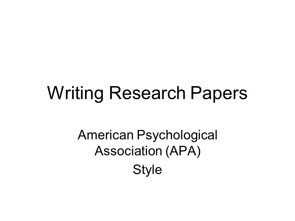 Write my apa style college papers