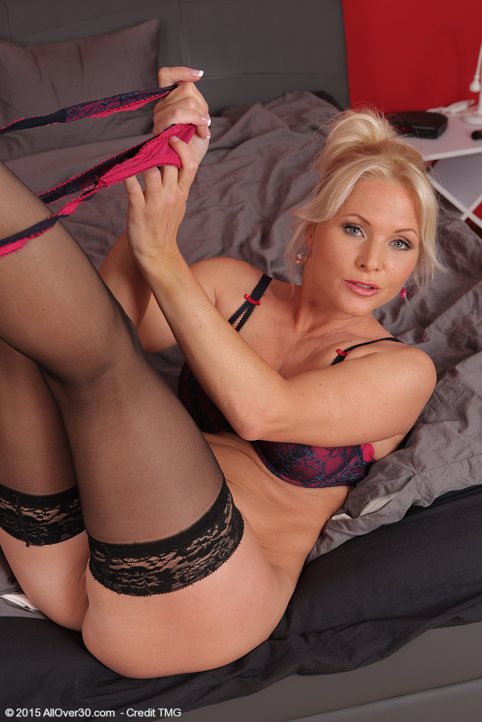 Blondes with nude stockings sexy