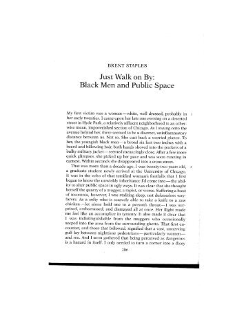 black men and public space analysis