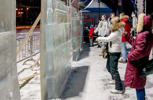 Нарисовать световую картину наледяной плите смогут посетители парка «Сокольники» 11-14января