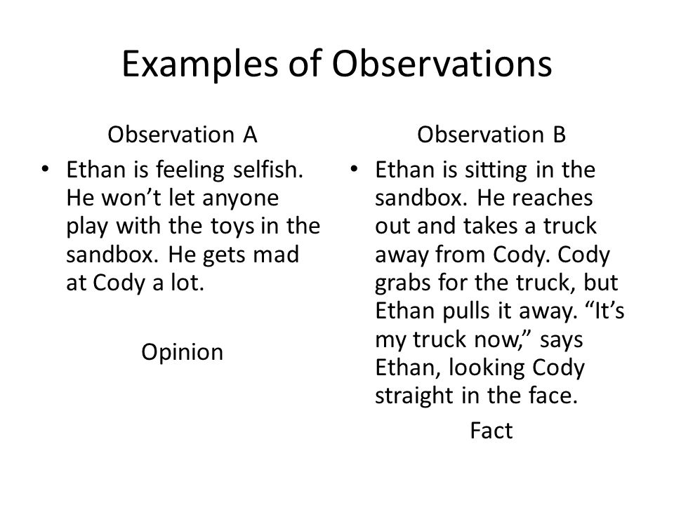 Observation Topics - California State University, Bakersfield