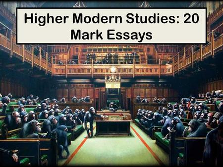 Advanced higher modern studies sample essays