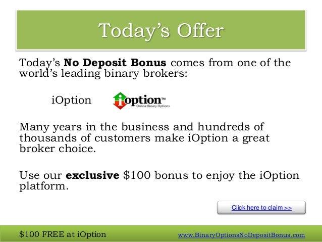 binary options no deposit bonus october 2013