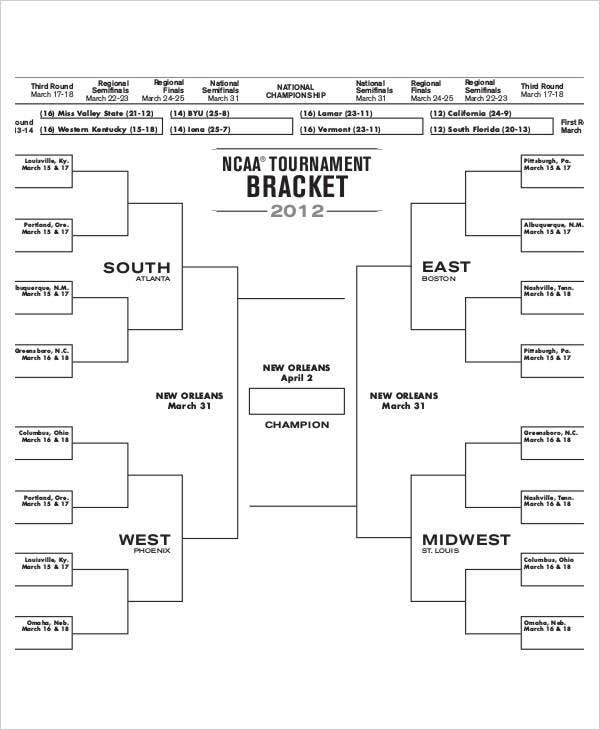 March Madness 2018: Printable NCAA Tournament bracket