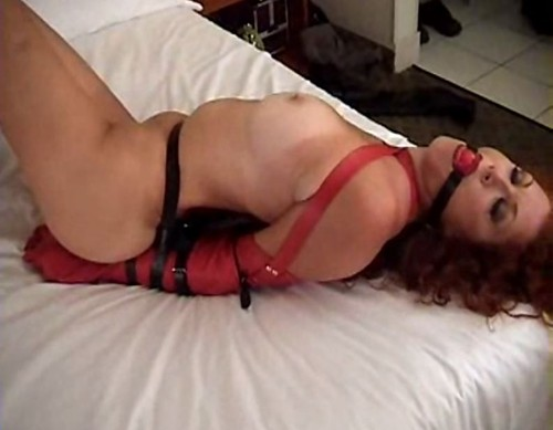 Redhead wife on black monstercock