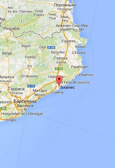Недвижимость коста брава на карте испании