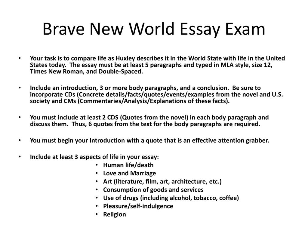 Write my brave new world analysis essay