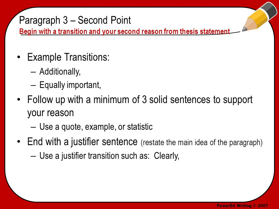 5 paragraph essay transition words