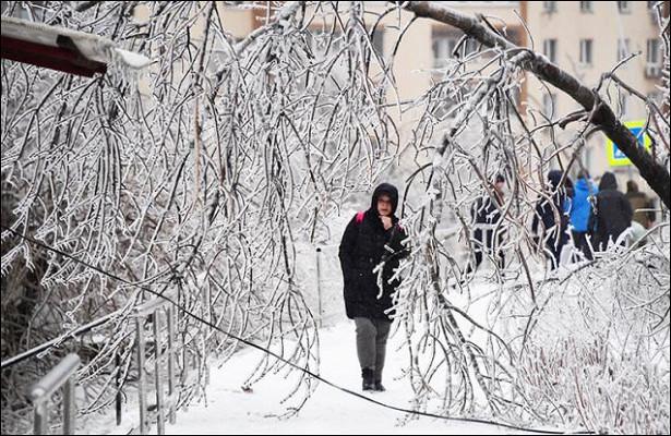 Ледяные дожди: Накроют илинетоницентр России