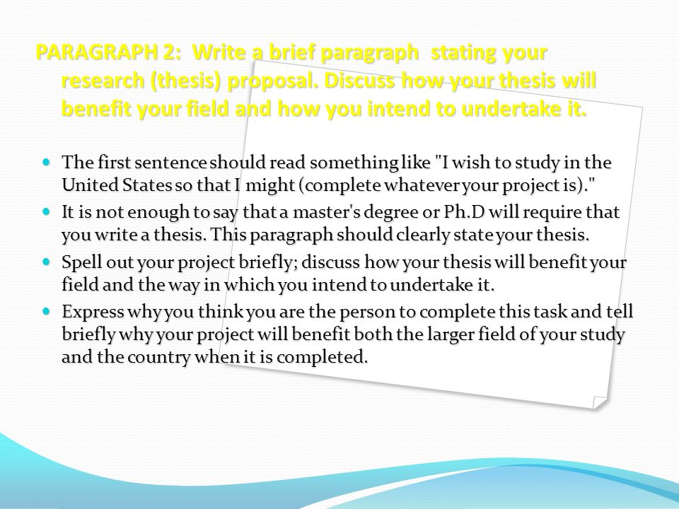 Write my thesis paragraph
