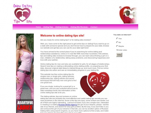 Tips for online dating profiles