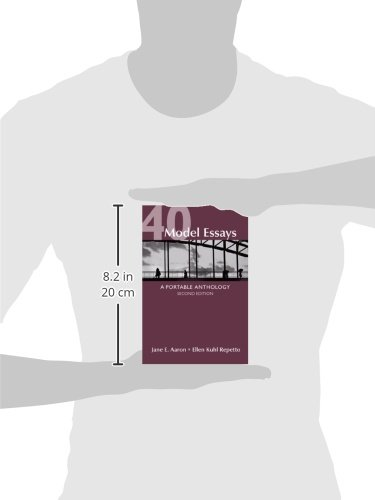 Model Essays A Portable Anthology Instructors Edition