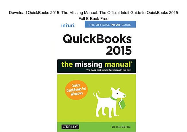 QuickBooks 2014: The Missing Manual - PDF Free Download